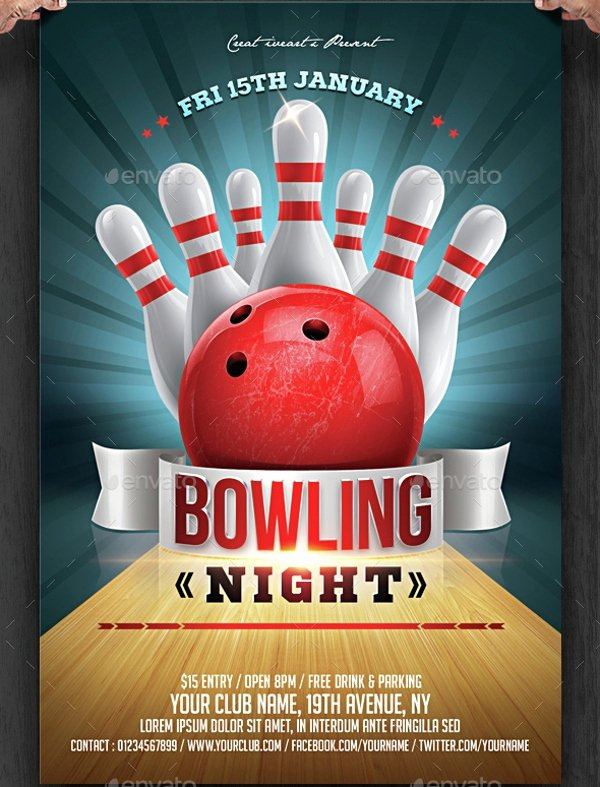 Bowling Flyer Template Free Elegant 23 Bowling Flyer Psd Vector Eps Jpg Download