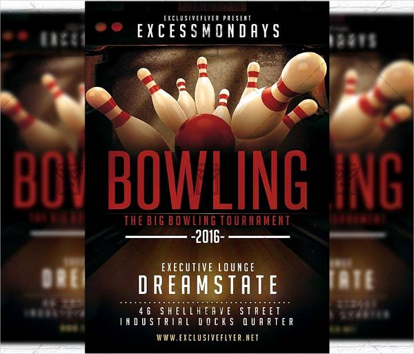 Bowling Flyer Template Free Elegant 9 Bowling Party Flyers Design Templates