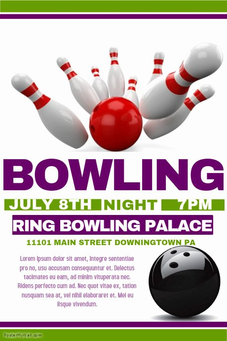 Bowling Flyer Template Free Fresh Bowling Flyer Template