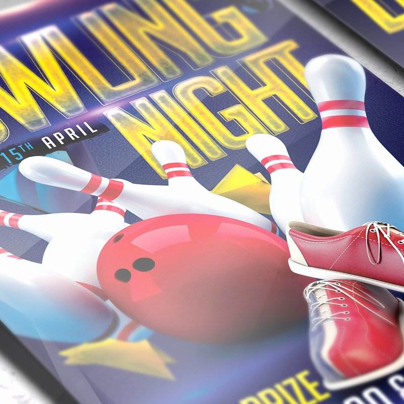 Bowling Flyer Template Free Fresh Bowling Night – Premium Flyer Template Cover