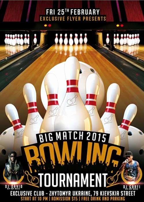 Bowling Flyer Template Free Fresh Bowling tournament Premium Flyer Template Heroturko
