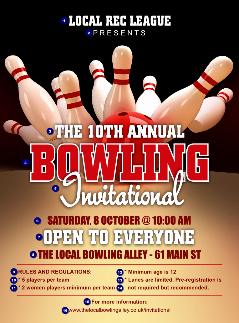 Bowling Flyer Template Free Lovely Bowling League Flyer Ticket Printing