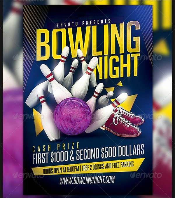 Bowling Flyer Template Free Unique 24 Bowling Flyer Templates Vector Eps Psd