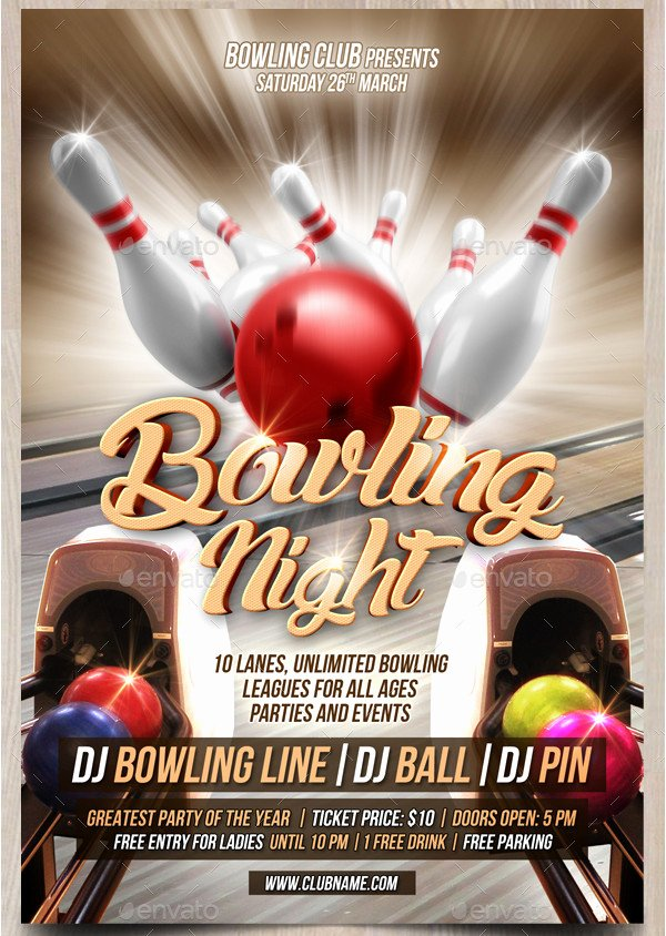 Bowling Flyer Template Free Unique 27 Bowling Flyer Templates Psd Ai Eps Vector format