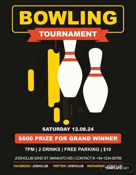 Bowling Flyer Template Free Unique Free Bowling Flyer Template