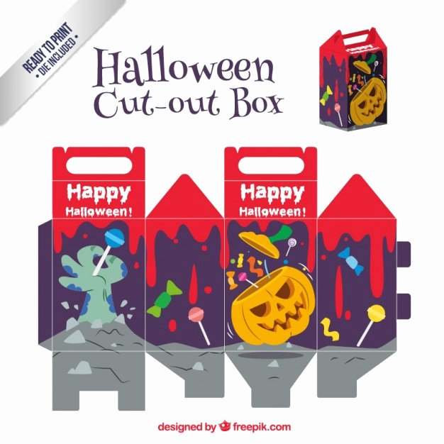 Box Cut Outs Awesome Scary Halloween Cut Out Box Vector