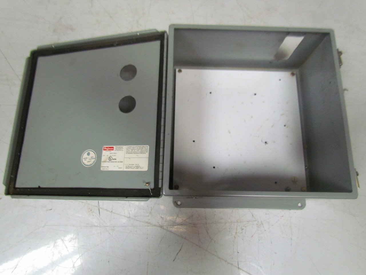 "Box Cut Outs Beautiful Hoffman A 1212ch Electrical Enclosure Cut Out Box 12""x12"