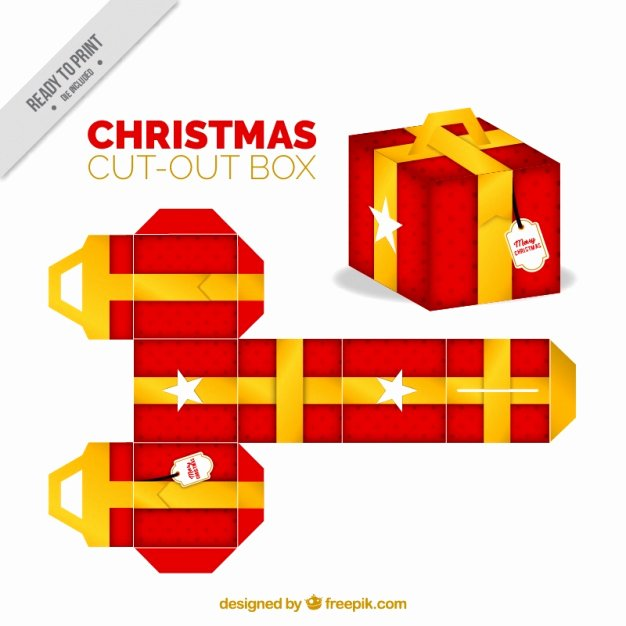 Box Cut Outs Elegant Christmas Cut Out T Box Vector