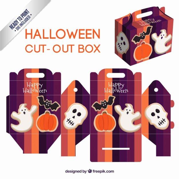 Box Cut Outs Elegant Cute Halloween Cut Out Box Vector