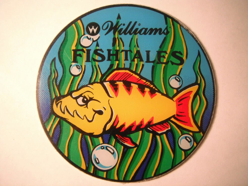 Box Cut Outs Elegant Williams Fishtales Pinball Promotional Plastic Speaker Box