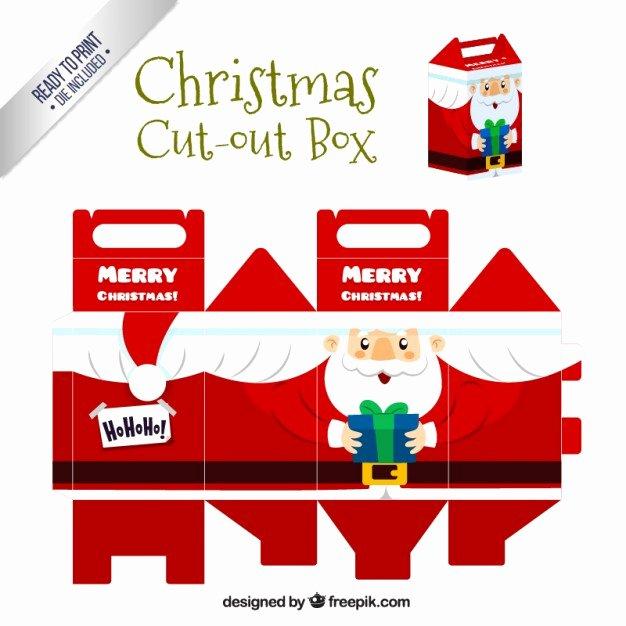 Box Cut Outs Inspirational Christmas Santa Claus Cut Out Box Vector