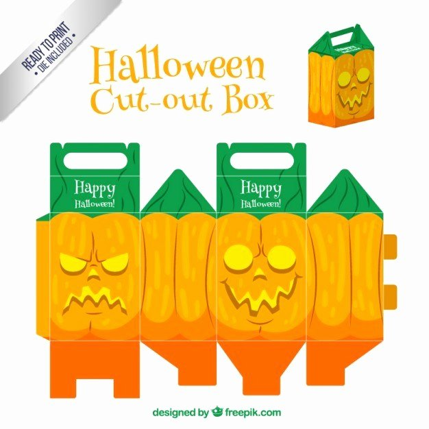 Box Cut Outs Lovely Free Halloween Cut Out Box Vector Templates