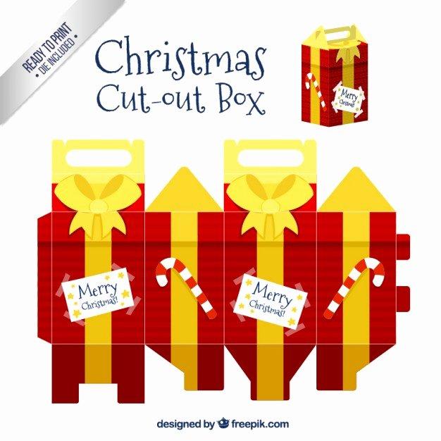 Box Cut Outs Unique Christmas Git Cut Out Box Vector
