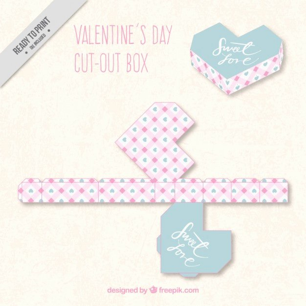 Box Cut Outs Unique Geometric Valentines Day Cut Out Box Vector