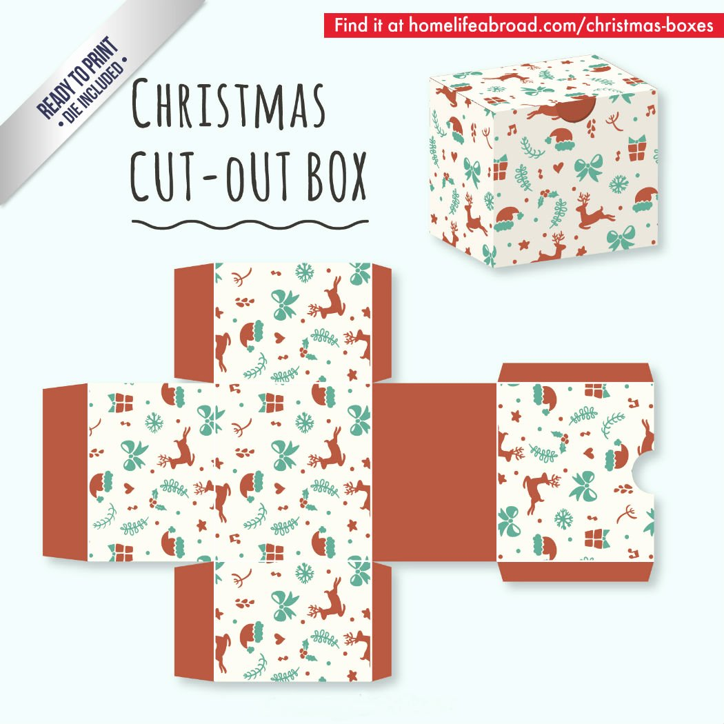 Box Cut Outs Unique Mega Collection Of 38 Cut Out Christmas Box Templates Part 2
