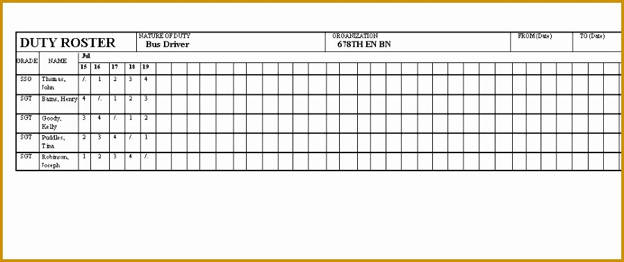 Boy Scout Duty Roster Template Best Of 6 Sample Duty Roster