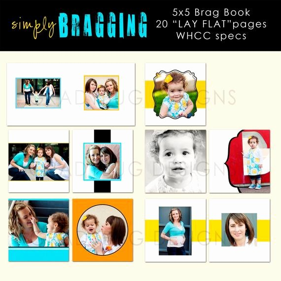 Brag Book Cover Page Template Fresh Simply Bragging 5x5 Brag Book Template Template by