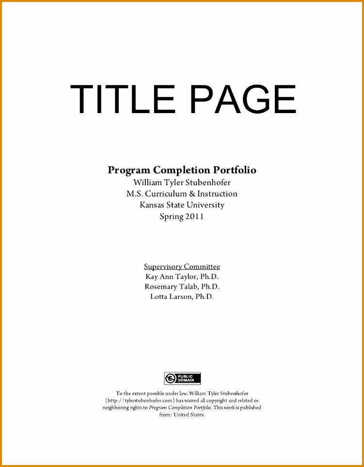 Brag Book Cover Page Template New Cover Page for Career Portfolio – Core Page
