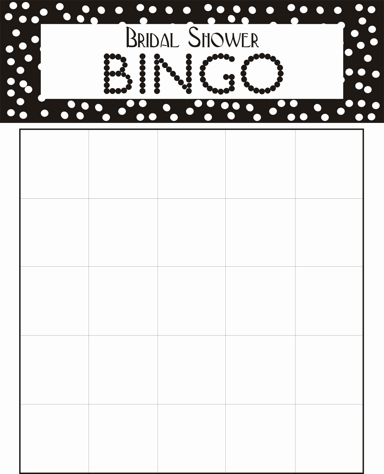 Bridal Bingo Template Beautiful Downloadable Bridal Bingo Cards – Craftbnb