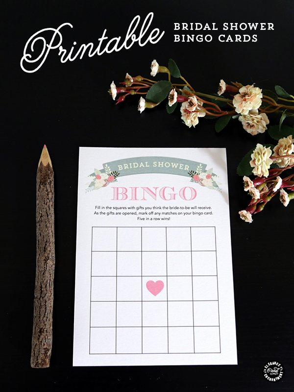 Bridal Bingo Template Best Of Printable Bridal Shower Bingo Cards