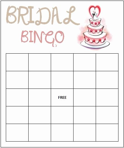 Bridal Bingo Template Fresh Free Bridal Shower Bingo Game 425×505