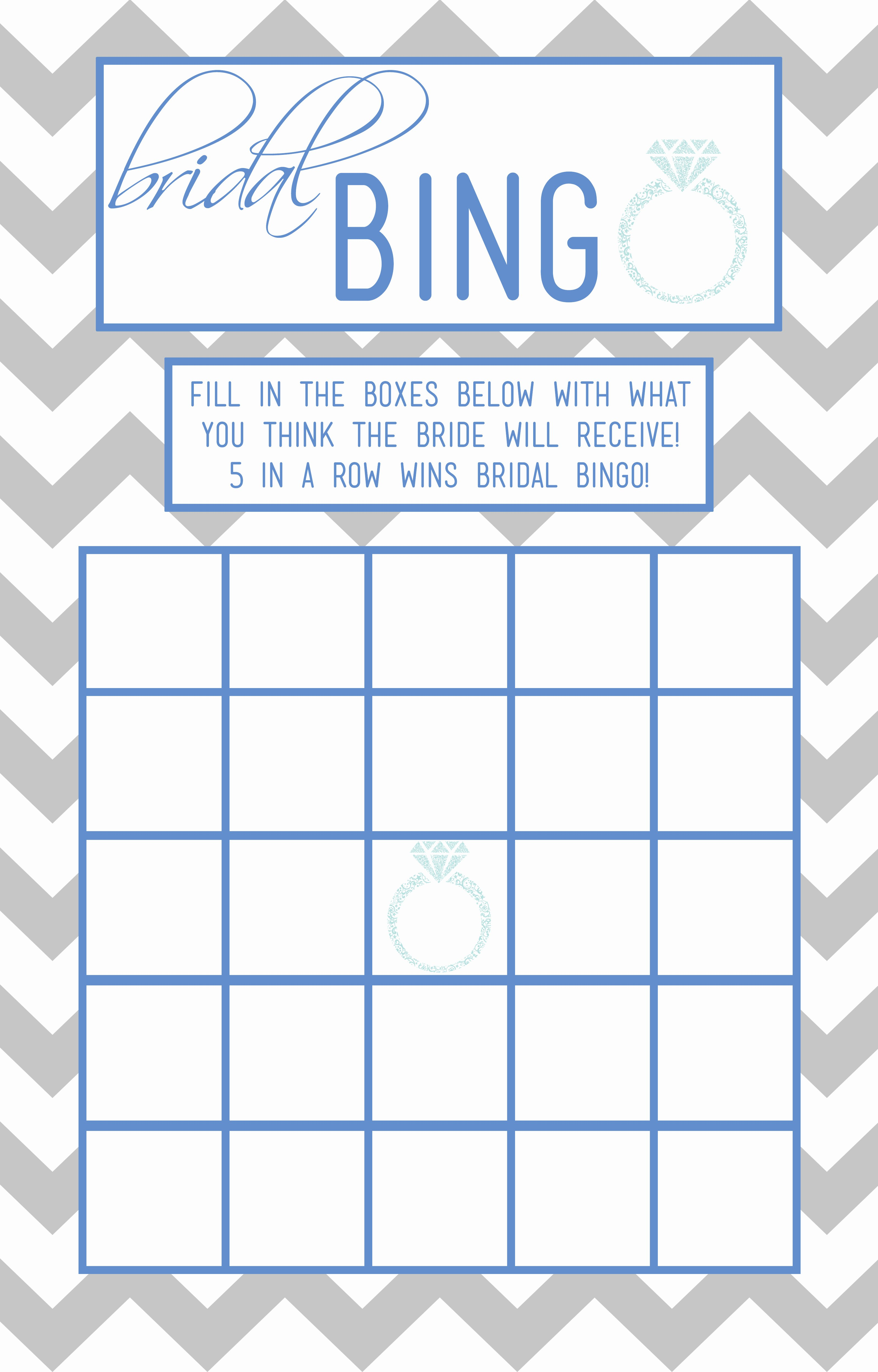Bridal Bingo Template Inspirational Bridal Bingo Template