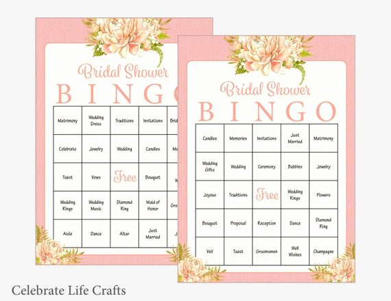 Bridal Bingo Template Luxury 60 Bridal Bingo Cards Floral Bridal Shower Bingo Game