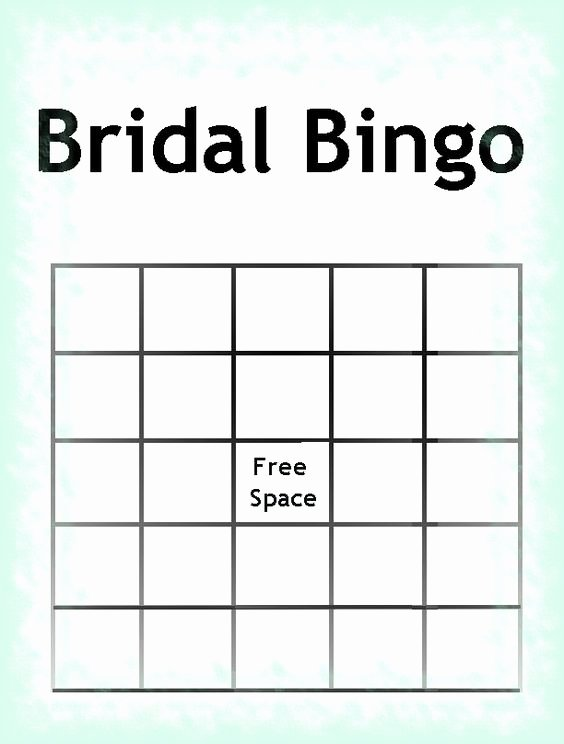 Bridal Bingo Template Luxury Free Printable Bridal Shower Invitations