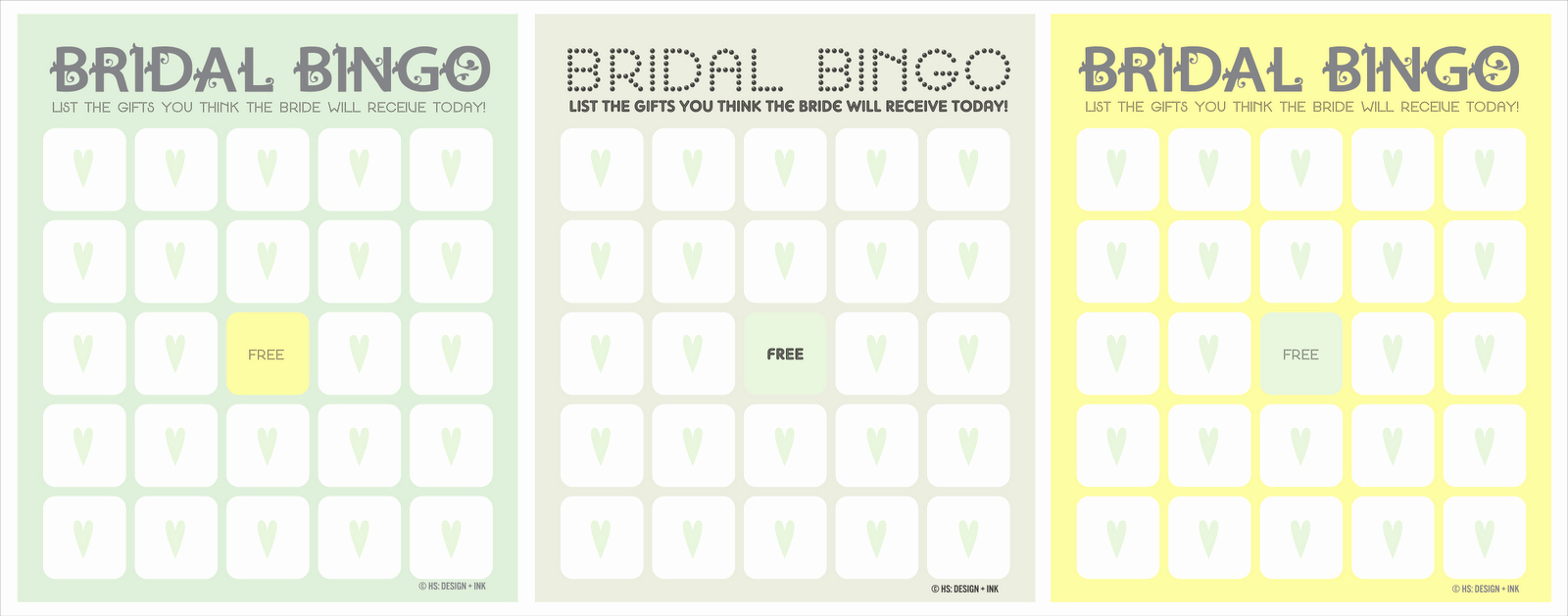 Bridal Bingo Template New the Things Hannah Loves Bridal Shower Games
