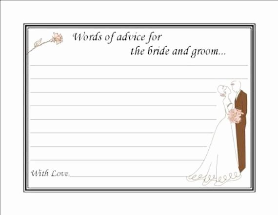 Bridal Shower Advice Cards Awesome Items Similar to Couples Bridal Shower Advice Cards On Etsy