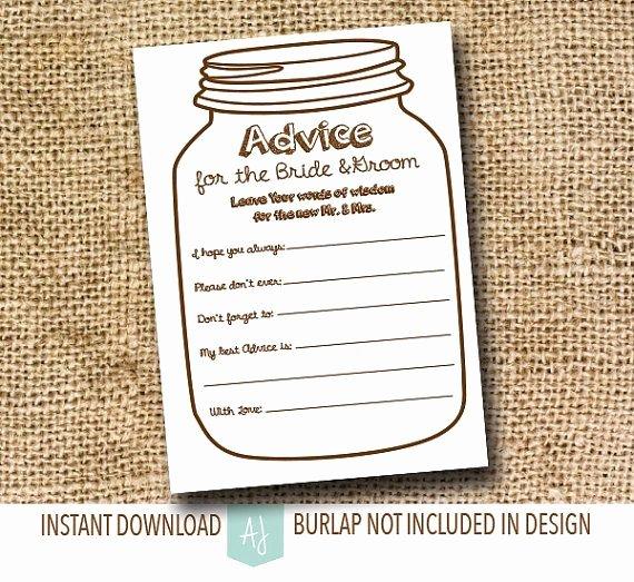 Bridal Shower Advice Cards Beautiful Advice for the Bride to Be Game for the Bridal Shower or