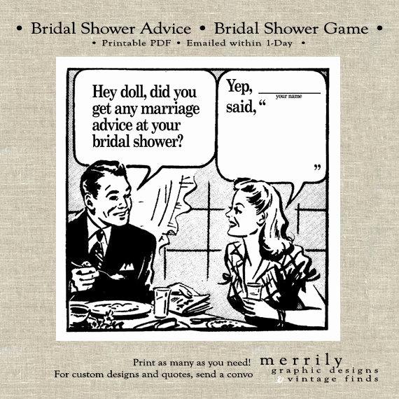 Bridal Shower Advice Cards Inspirational Bridal Shower Advice Game Cards Printable by Merrilydesigns