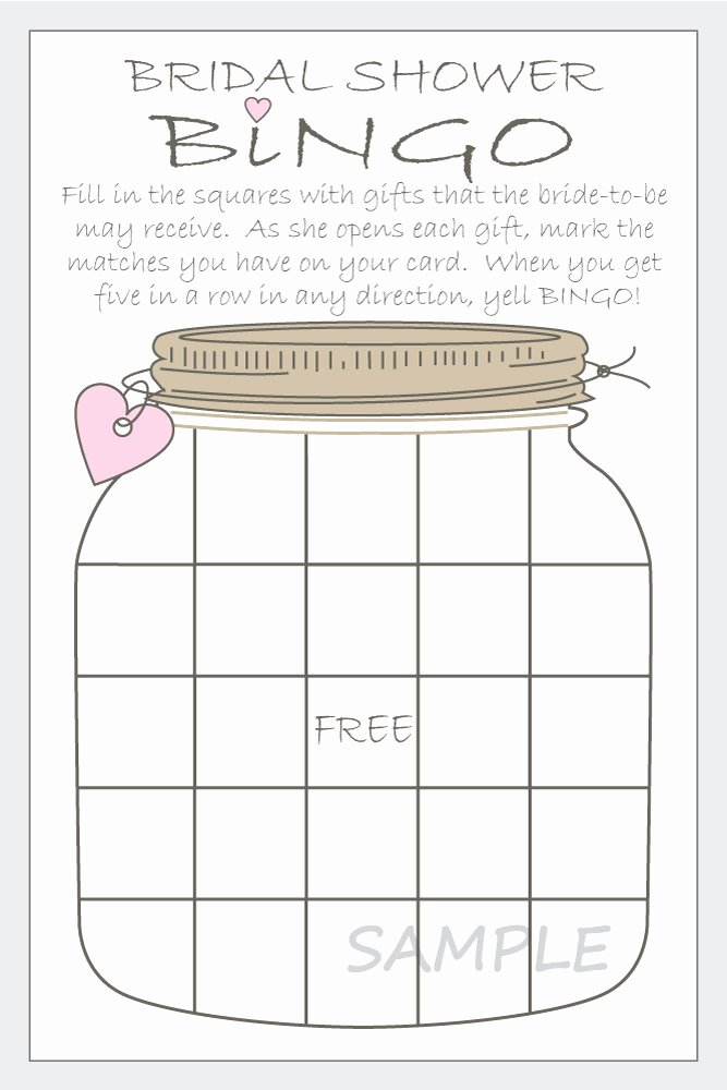 Bridal Shower Bingo Template Awesome Bridal Shower Bingo Printable Cards Gift Bingo Rustic