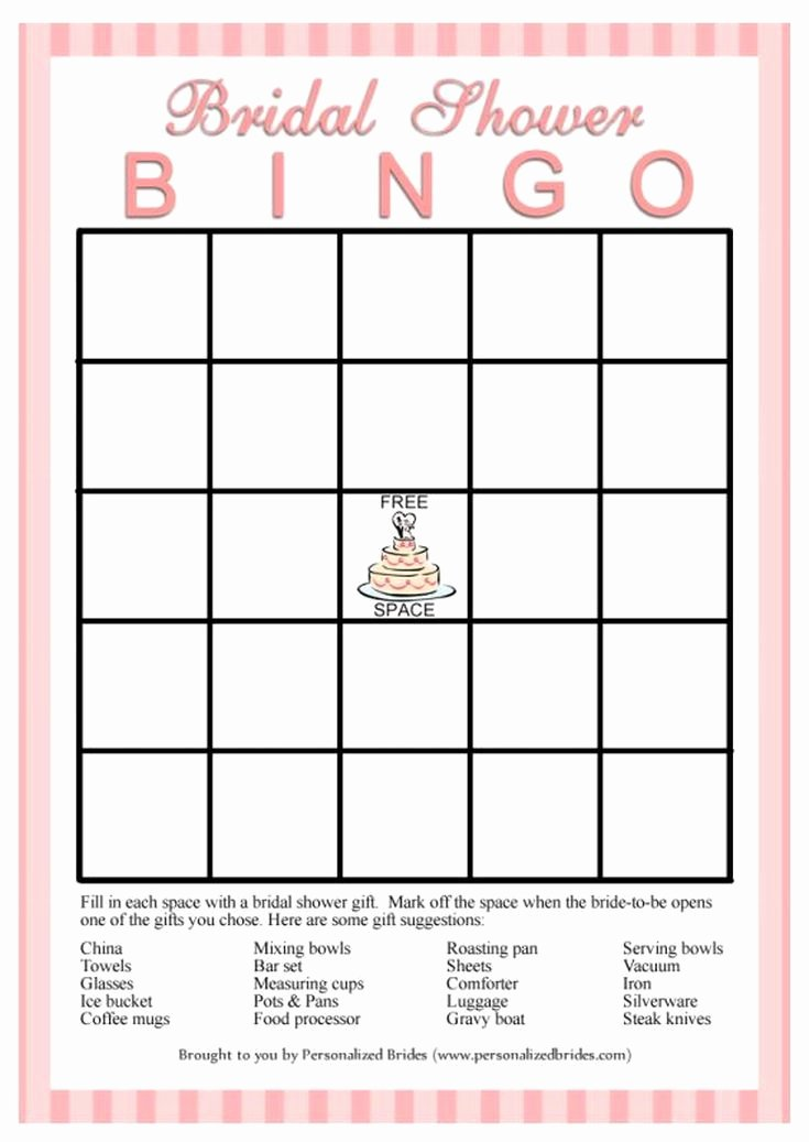 Bridal Shower Bingo Template Beautiful 25 Best Ideas About Bridal Bingo On Pinterest