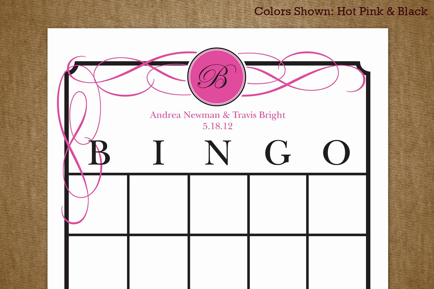 Bridal Shower Bingo Template Elegant Bridal Shower Printable Bingo Game Card by Jackaroodesigningco