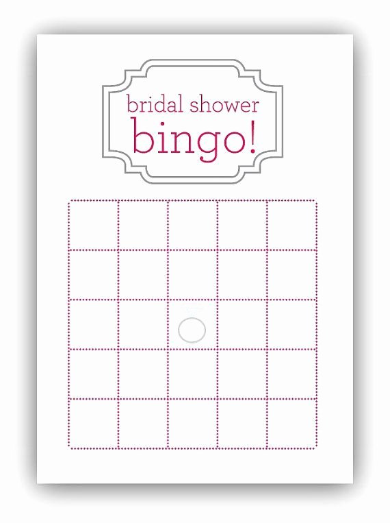 Bridal Shower Bingo Template Free Fresh Bridal Shower Bingo Card Template