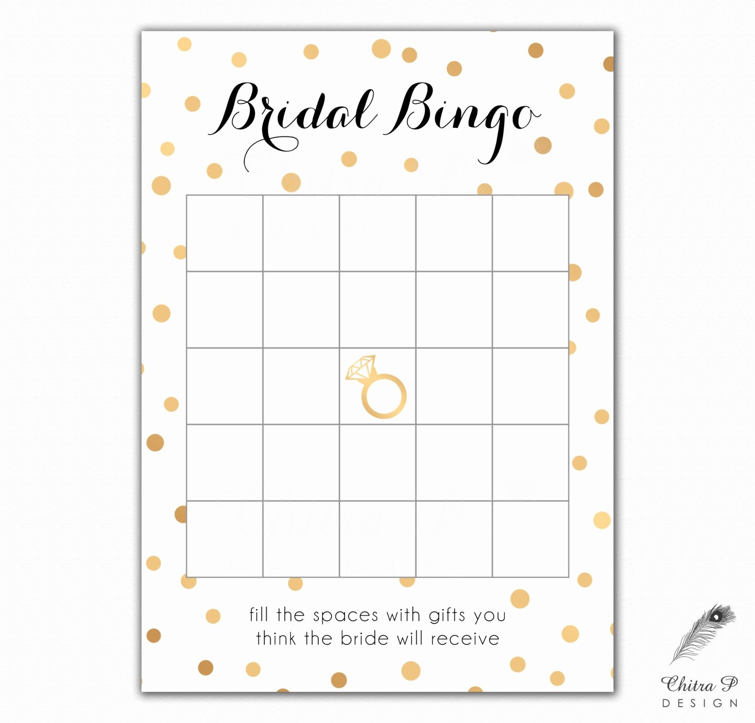 Bridal Shower Bingo Template Free Inspirational Black & Gold Bridal Shower Bingo Cards Printed or Printable