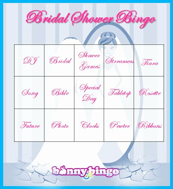 Bridal Shower Bingo Template Free Inspirational Bridal Bingo Template