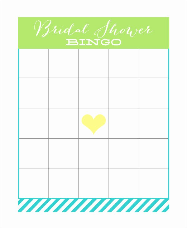 Bridal Shower Bingo Template Free Inspirational Free Printable Bingo Card 7 Free Pdf Documents Download