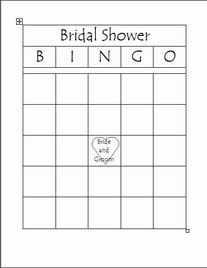 Bridal Shower Bingo Template Free Inspirational Free Printable Bridal Bingo Template