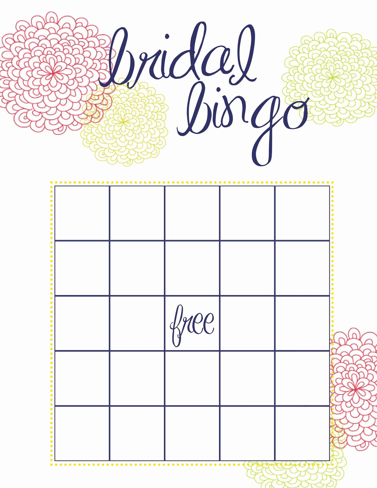 Bridal Shower Bingo Template Free Luxury How to Throw the Best Bridal Shower Pretty Happy Love