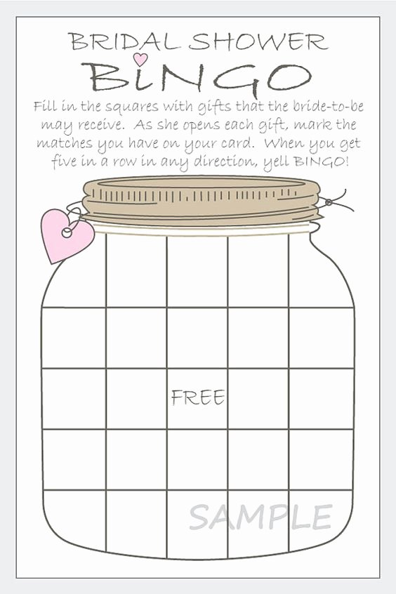 Bridal Shower Bingo Template Free Unique Pinterest • the World's Catalog Of Ideas