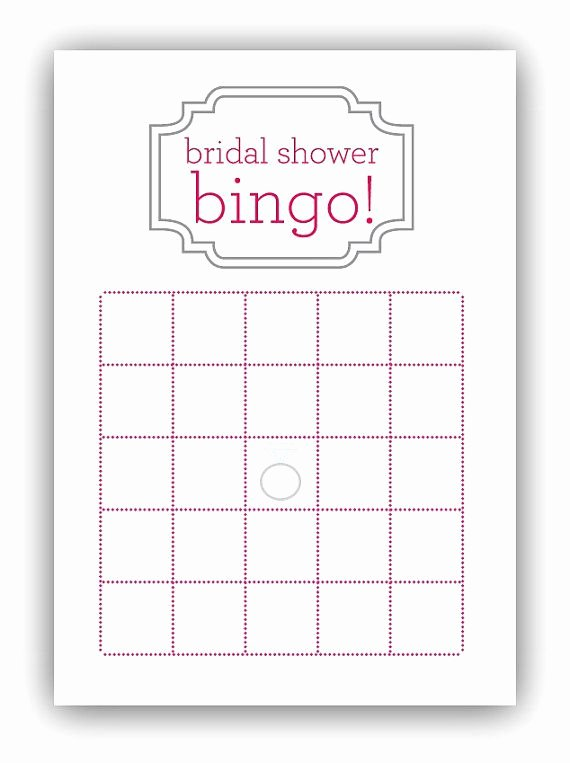 Bridal Shower Bingo Template Inspirational Bridal Shower Bingo Card by Gracefully Made Designs On