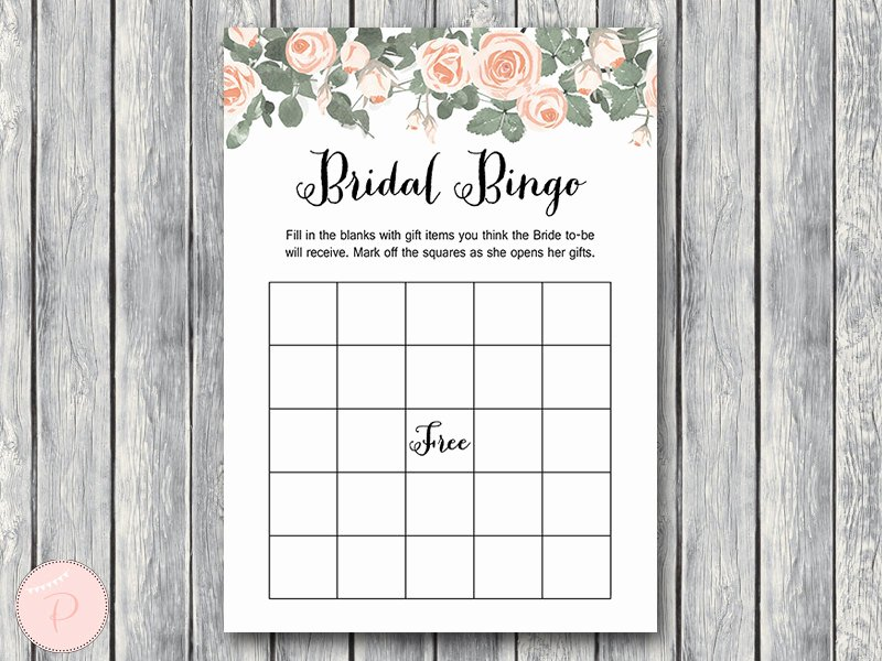 Bridal Shower Bingo Template New Pink Floral Bridal Shower Game Printable Bride & Bows