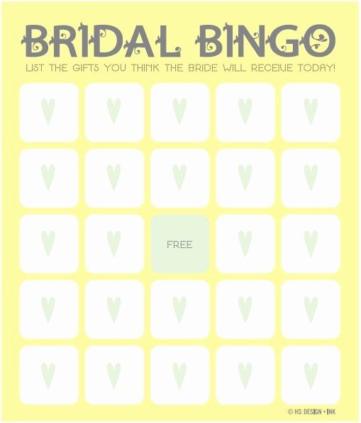 Bridal Shower Bingo Templates Best Of 17 Best Ideas About Bingo Template On Pinterest