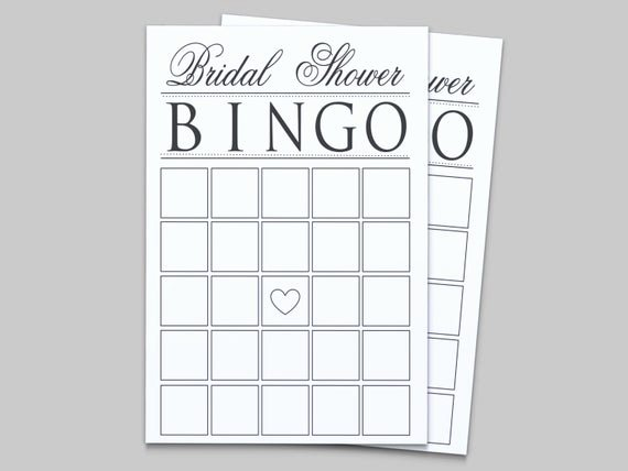 Bridal Shower Bingo Templates Best Of Items Similar to Bridal Shower Printable Bingo Game