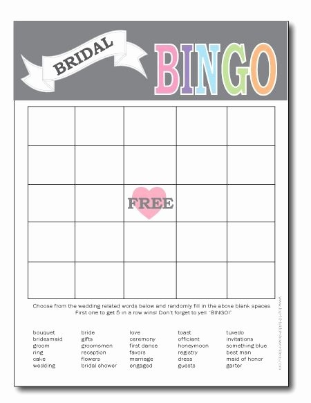Bridal Shower Bingo Templates Elegant Best 25 Bridal Bingo Ideas On Pinterest