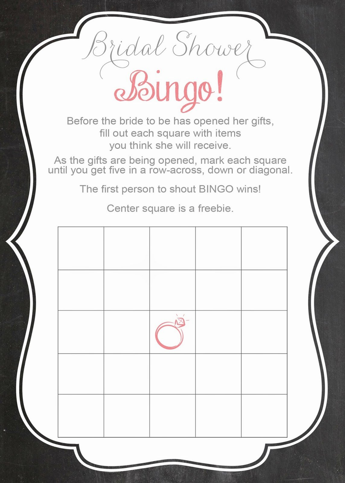 Bridal Shower Bingo Templates Elegant Savvy Deets Bridal Free Printable Bridal Shower Bingo