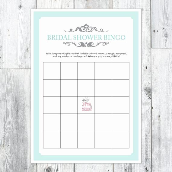 Bridal Shower Bingo Templates New Items Similar to Bridal Shower Bingo Printable Card On Etsy