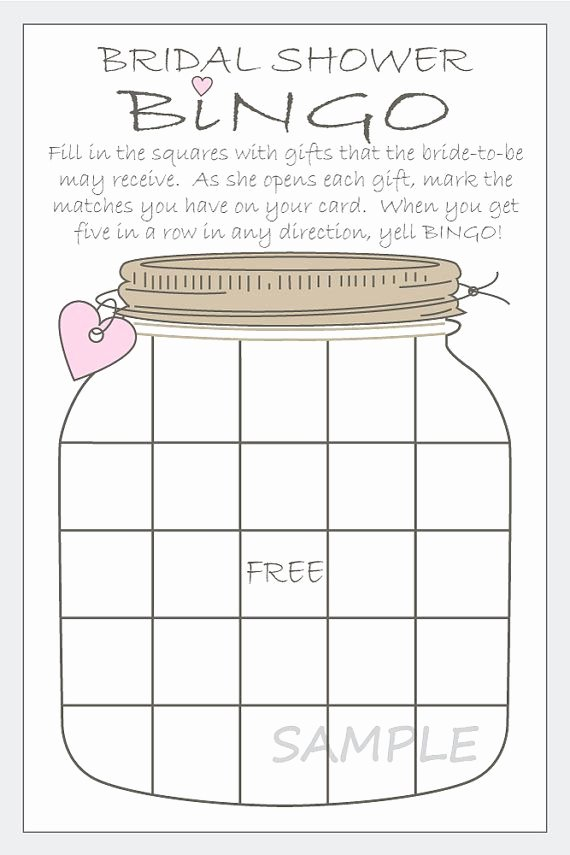 Bridal Shower Bingo Templates Unique 17 Best Images About Christmas Wedding Shower On Pinterest